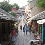 Central Street In The Town Of Mostar