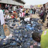 Selling Jeans In Makola Market In Accra