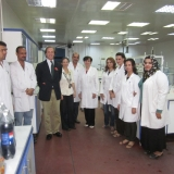 Alison And Tom With The Lab Team Of Baghdad Soft Drinks